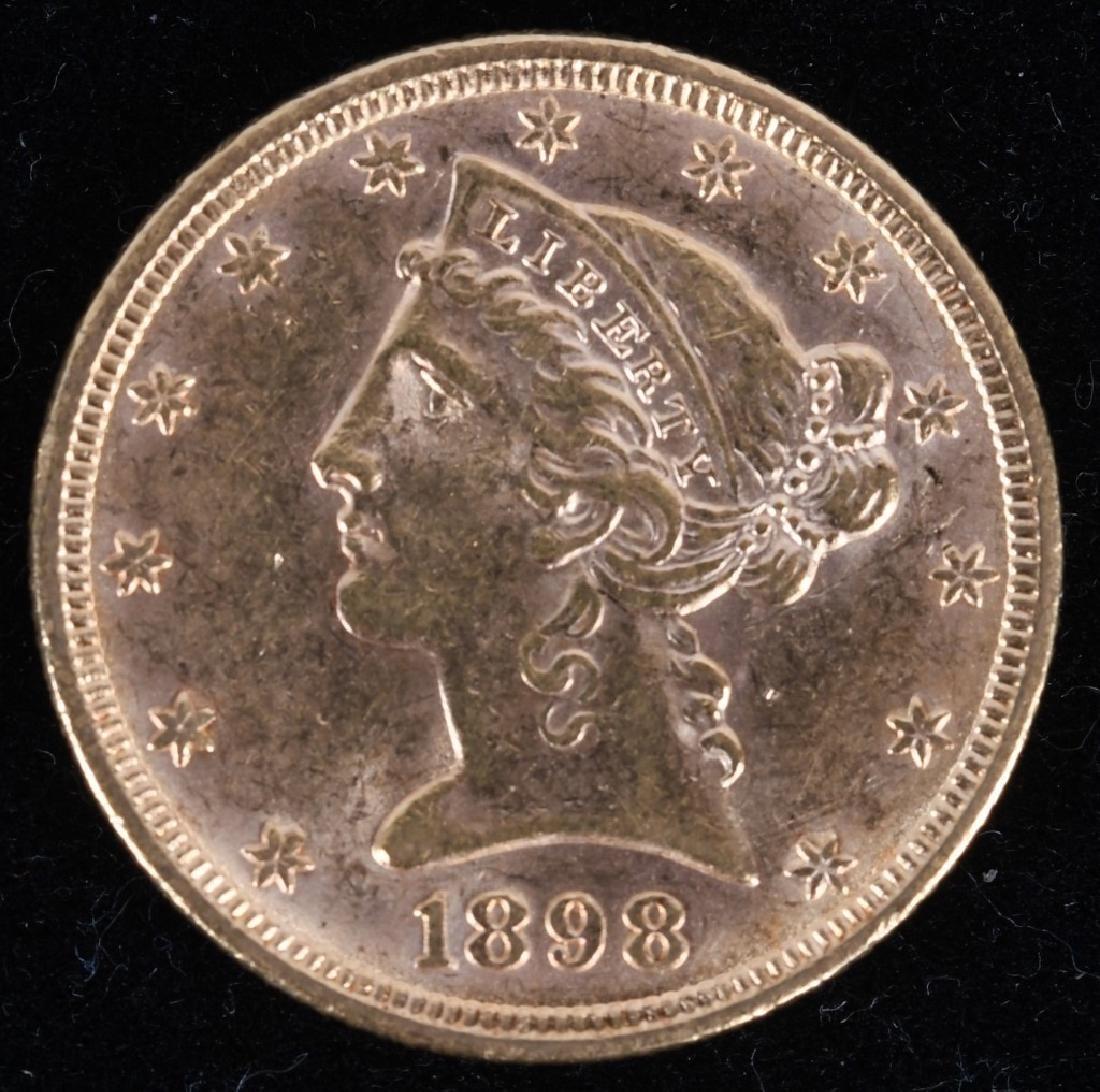 1898 $5 Liberty Gold Half Eagle