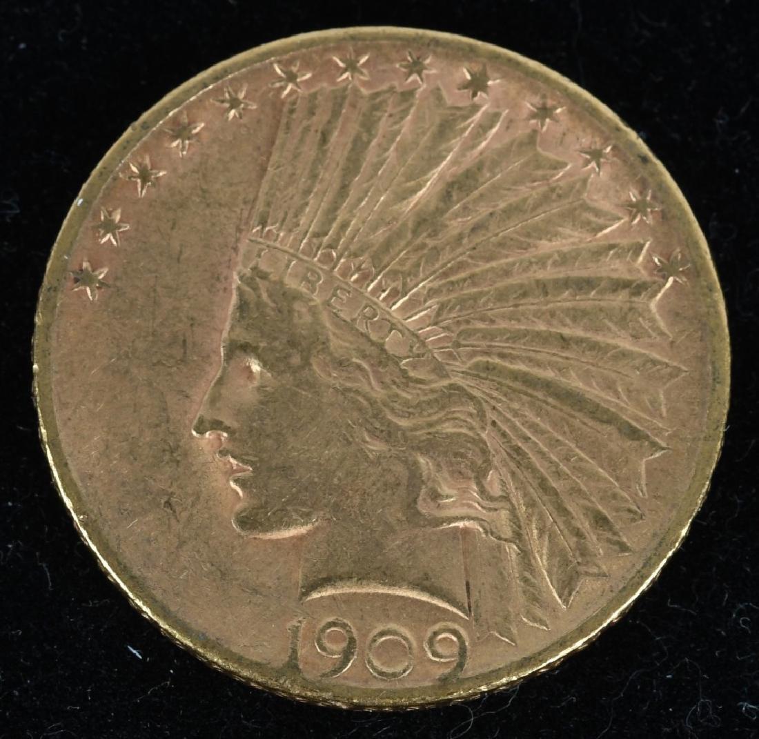 1909-S $10 Indian Gold Eagle