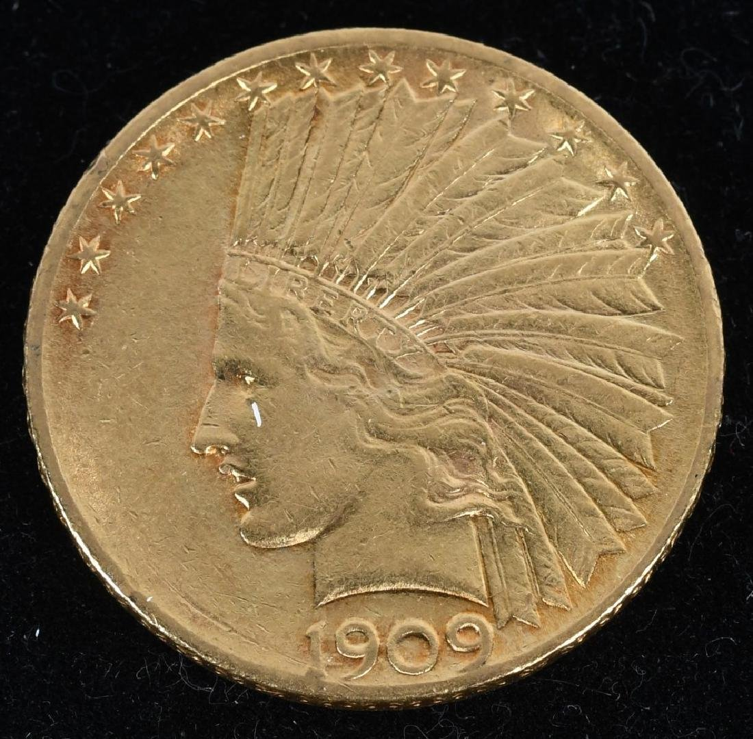 1909 $10 Indian Gold Eagle