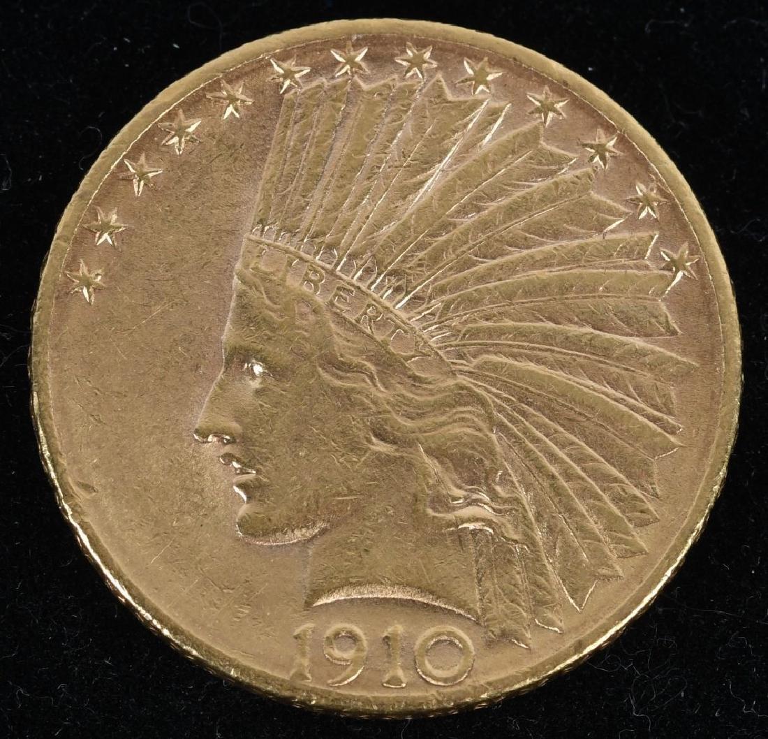1910-D $10 Indian Gold Eagle