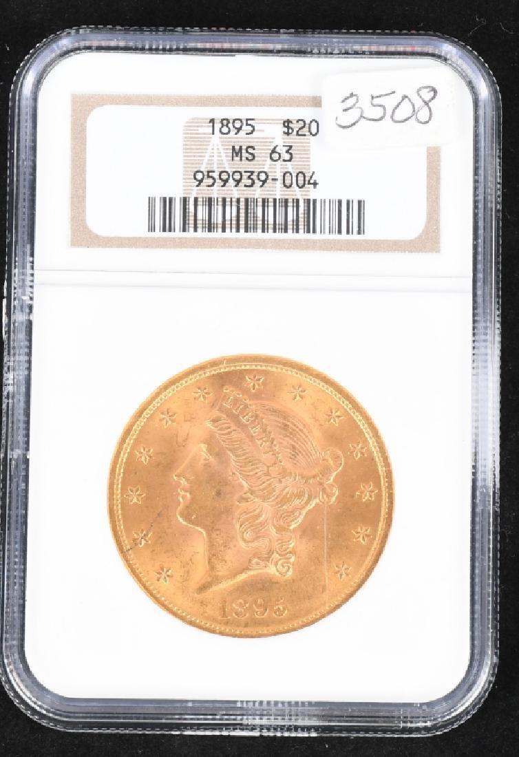 1895 $20 Liberty Gold Double Eagle, ANA MS 63