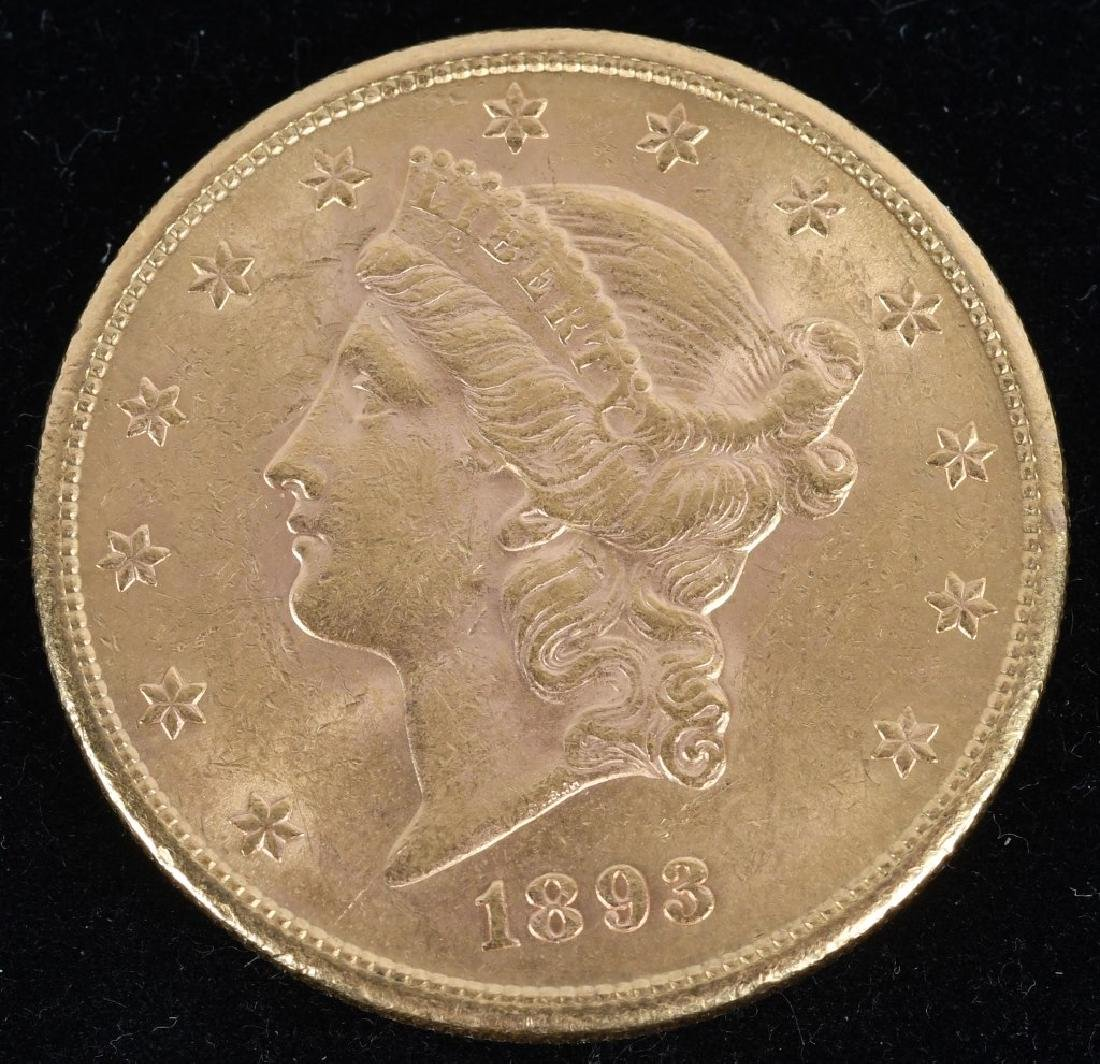 1893-S $20 Liberty Gold Double Eagle
