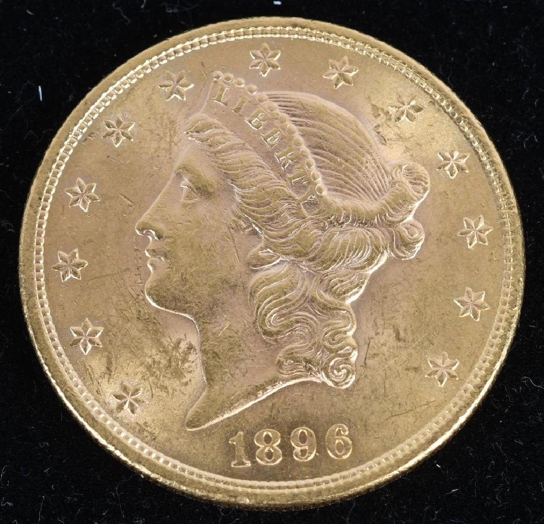 1896 $20 Liberty Gold Double Eagle