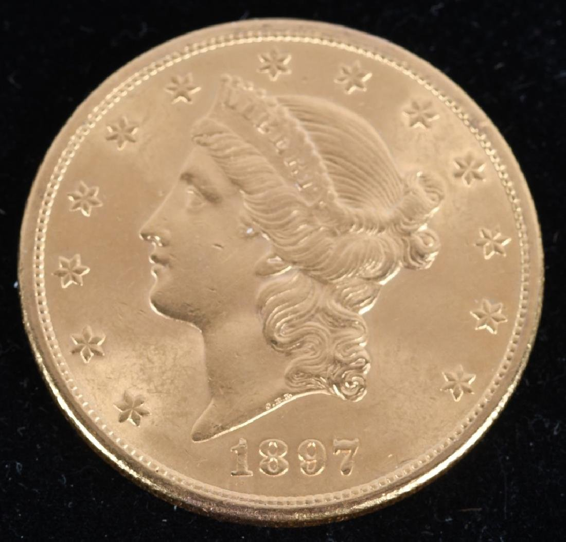1897-S $20 Liberty Gold Double Eagle