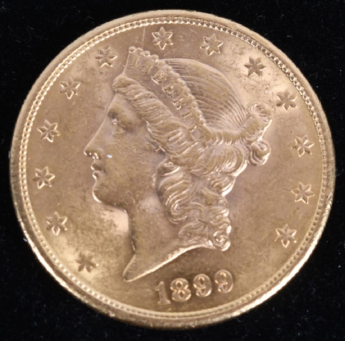 1899-S $20 Liberty Gold Double Eagle