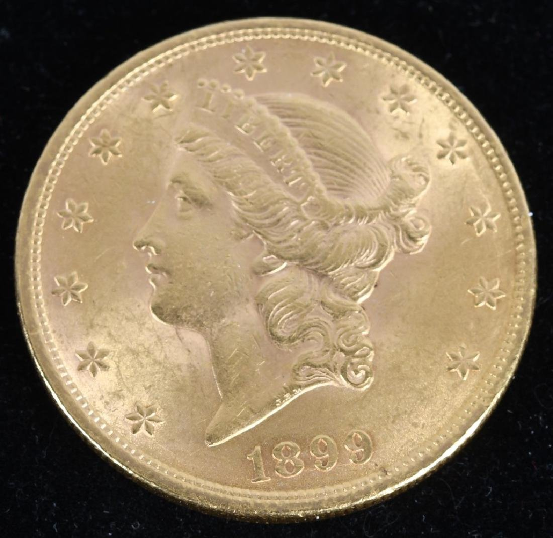 1899 $20 Liberty Gold Double Eagle