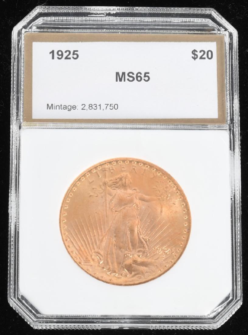 1925 $20 Saint-Gaudens Gold Double Eagle