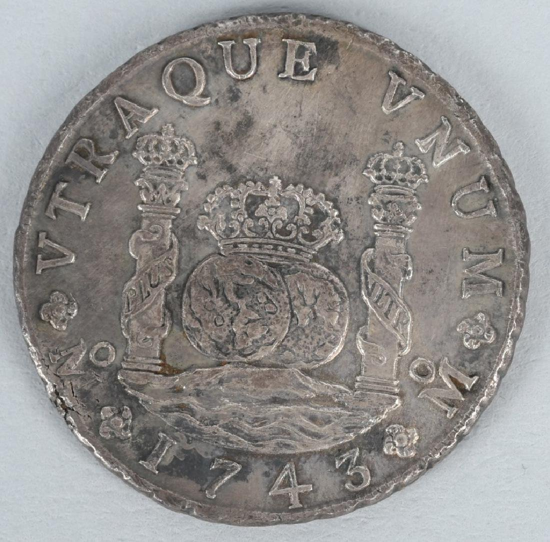 1743 SILVER 8 REALES COIN