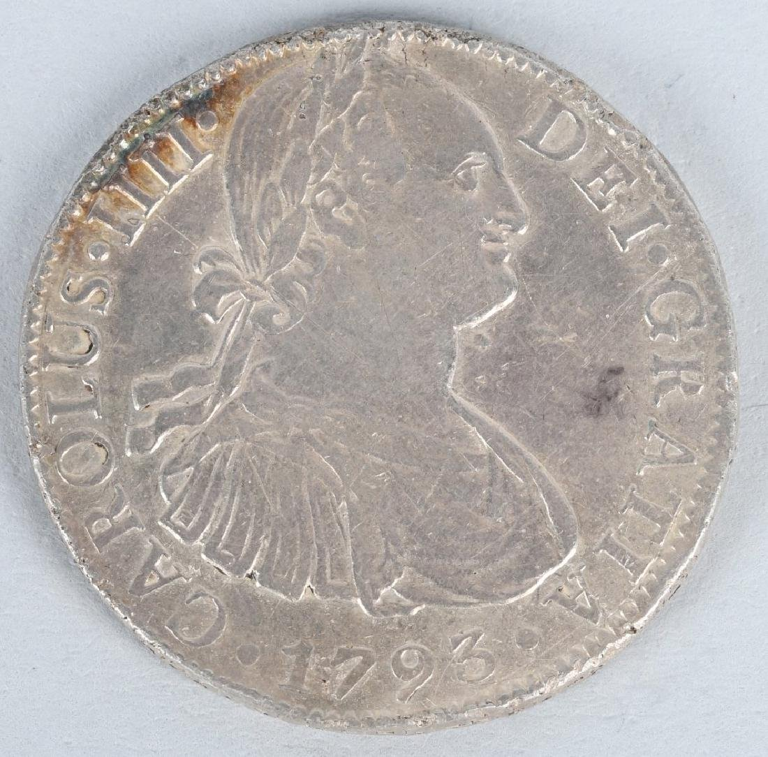 1793 SILVER 8 REALES COIN