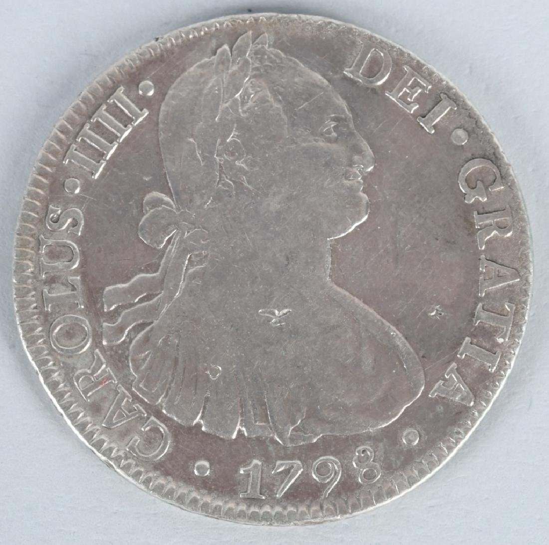 1798 SILVER 8 REALES COIN