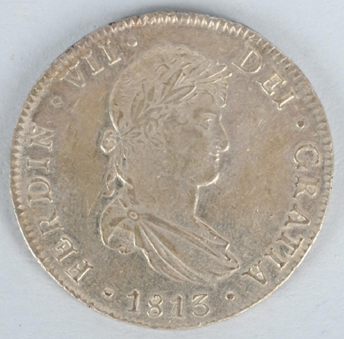 1813 SILVER 8 REALES COIN