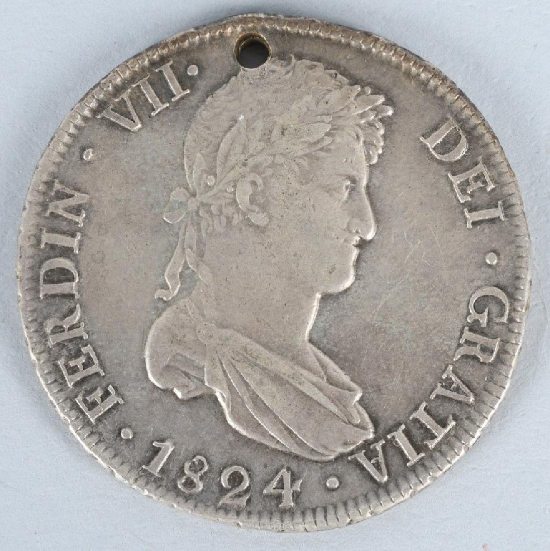 1824 SILVER 8 REALES COIN