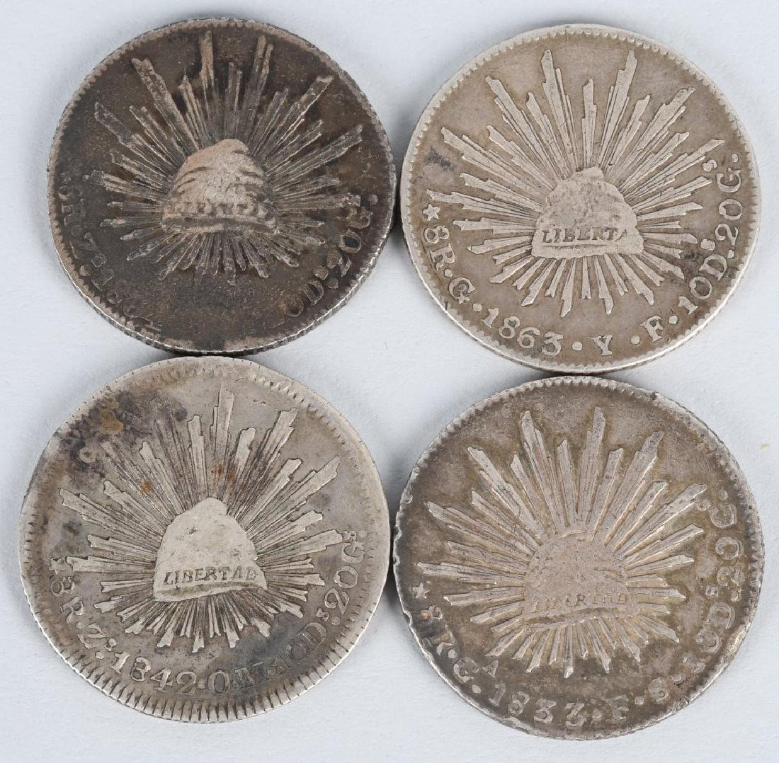 8-SILVER 8 REALES COINS, & 2-2 REALES COINS - 2