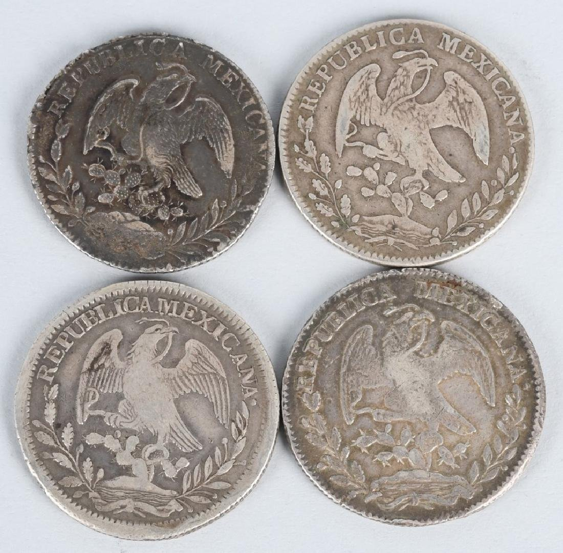 8-SILVER 8 REALES COINS, & 2-2 REALES COINS - 3