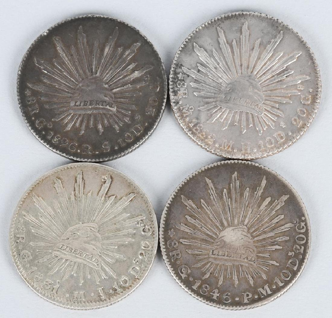 8-SILVER 8 REALES COINS, & 2-2 REALES COINS - 4