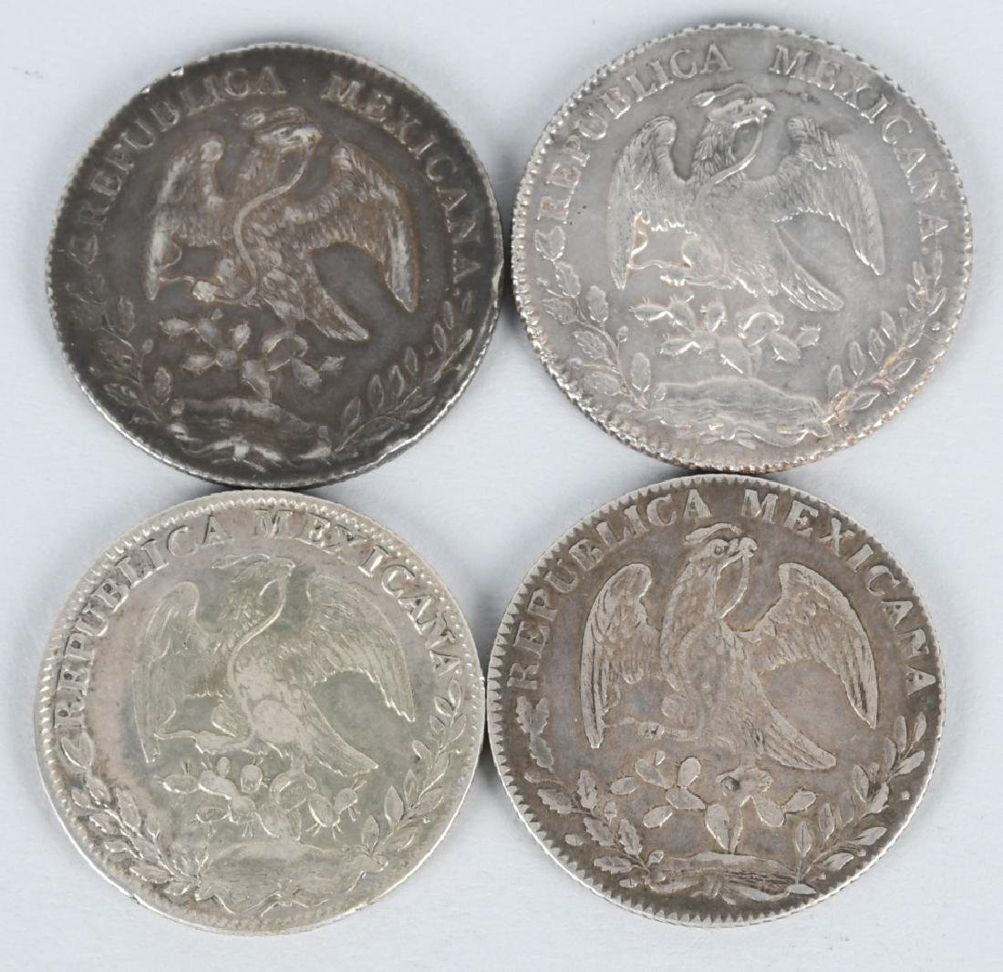 8-SILVER 8 REALES COINS, & 2-2 REALES COINS - 5