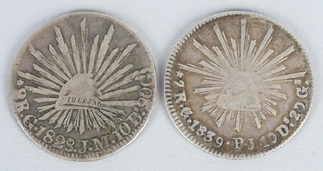8-SILVER 8 REALES COINS, & 2-2 REALES COINS - 6