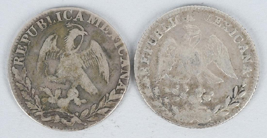 8-SILVER 8 REALES COINS, & 2-2 REALES COINS - 7