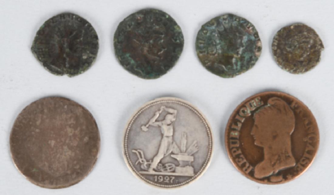 4-ANCIENT CLAUDIUS ROMAN COINS, & MORE