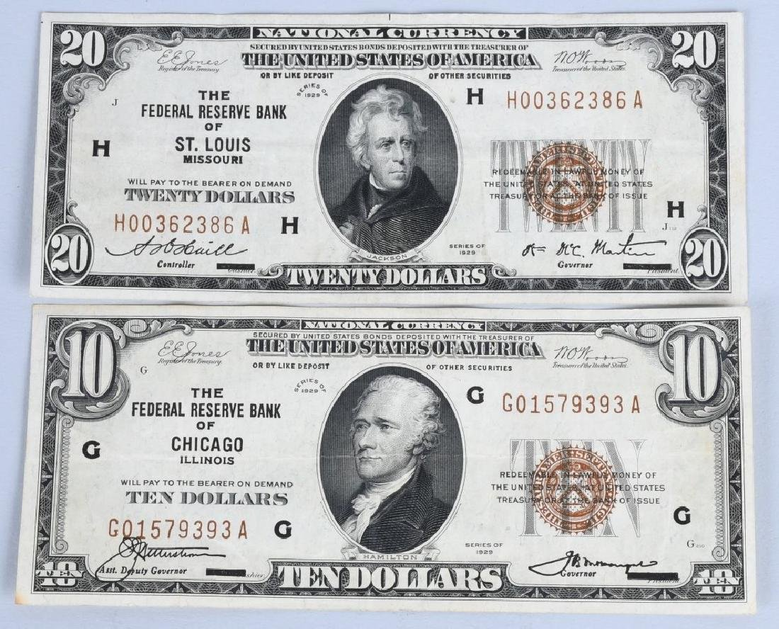 5-SERIES 1929 NATIONAL CURRENCY NOTES - 2