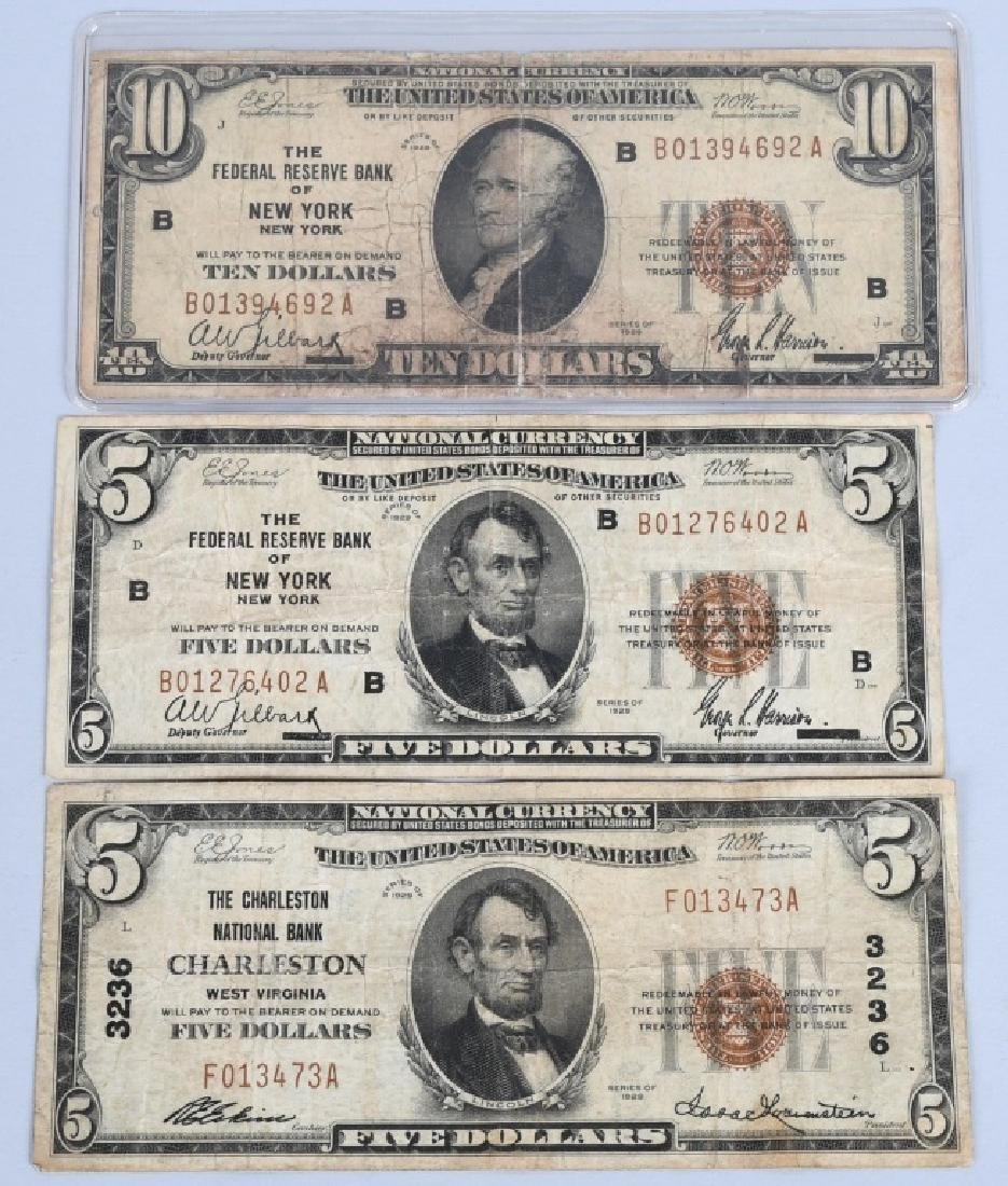 5-SERIES 1929 NATIONAL CURRENCY NOTES - 4