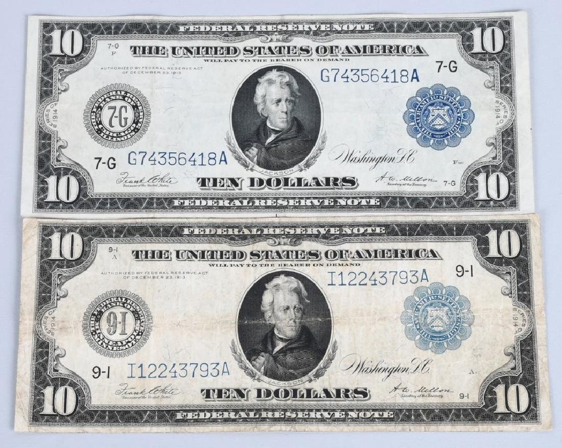 4-SERIES 1914 LARGE SIZE NOTES, $5, $10 & $20 - 2