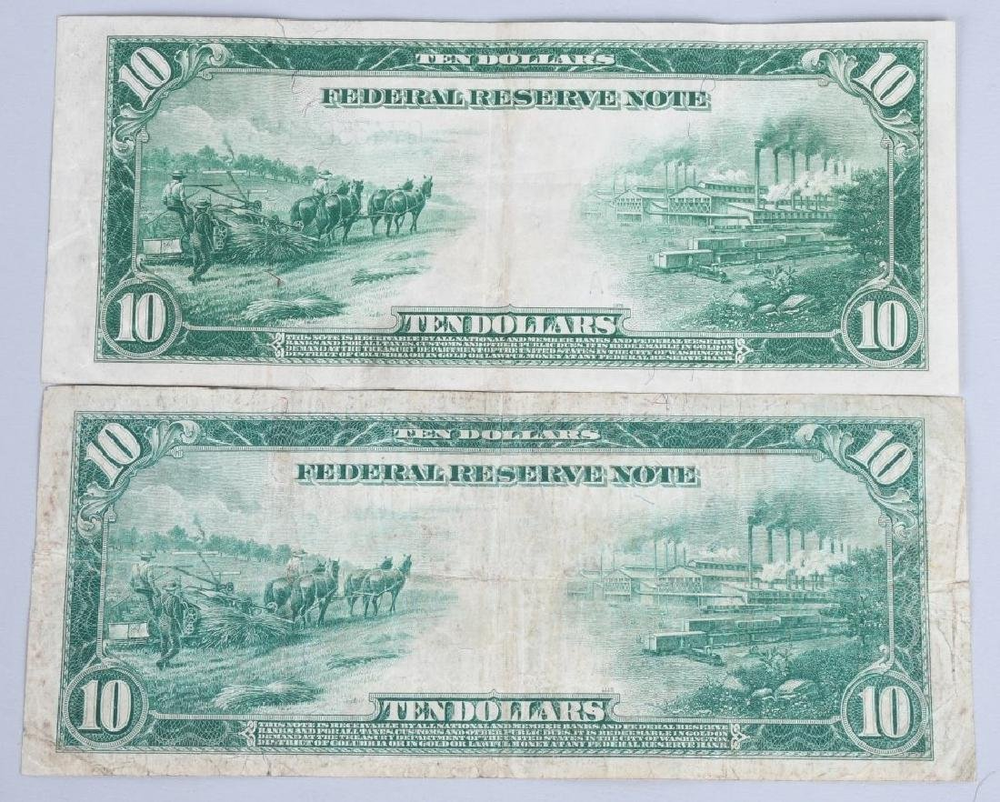 4-SERIES 1914 LARGE SIZE NOTES, $5, $10 & $20 - 3