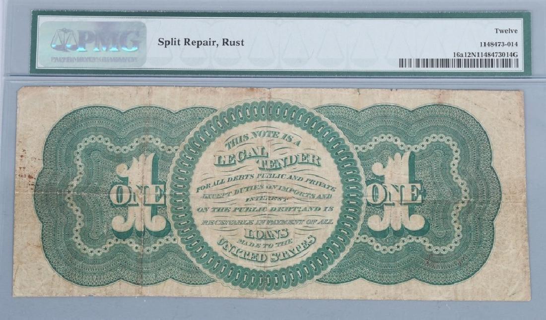 1862 $1.00 CHITTENDEN / SPINNER NOTE, PMG, F12 - 2