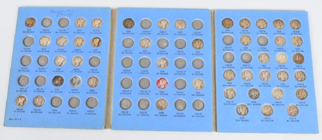 MERCURY HEAD SILVER DIME BOOK w/ 46 DIMES