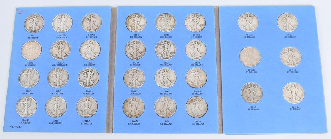 WALKING LIBERTY HALF SET 1937-1947 30 COINS
