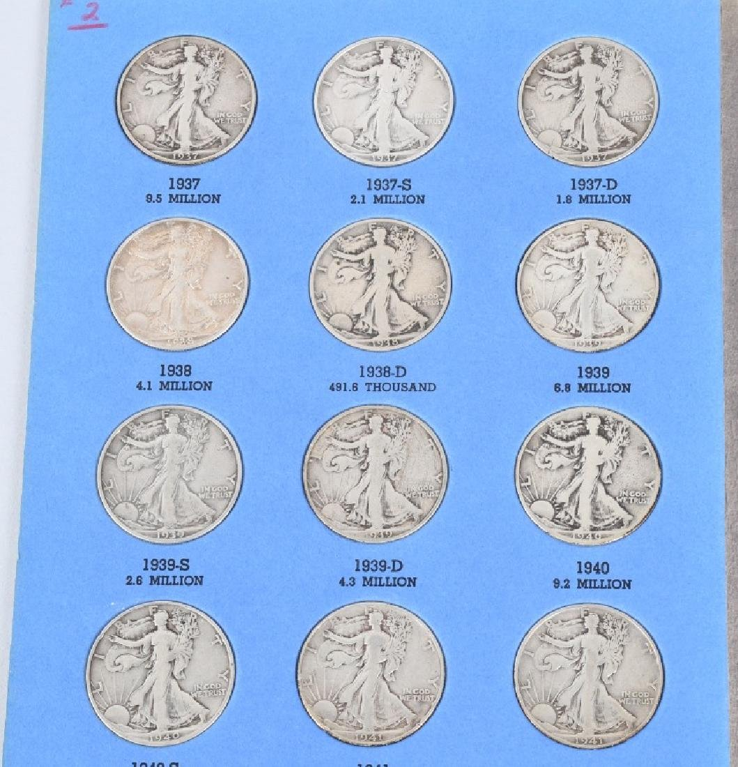 WALKING LIBERTY HALF SET 1937-1947 30 COINS - 2