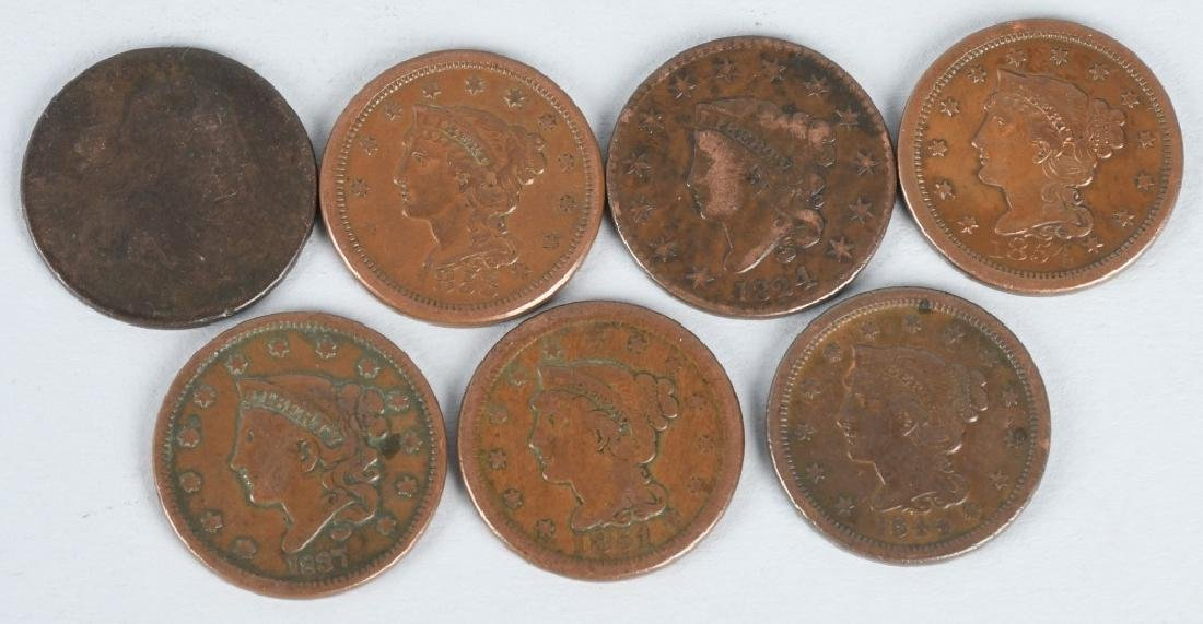 7- LARGE CENTS 1801-1854