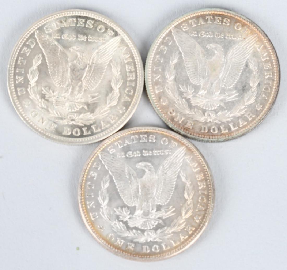 3- MORGAN SILVER DOLLARS - 2