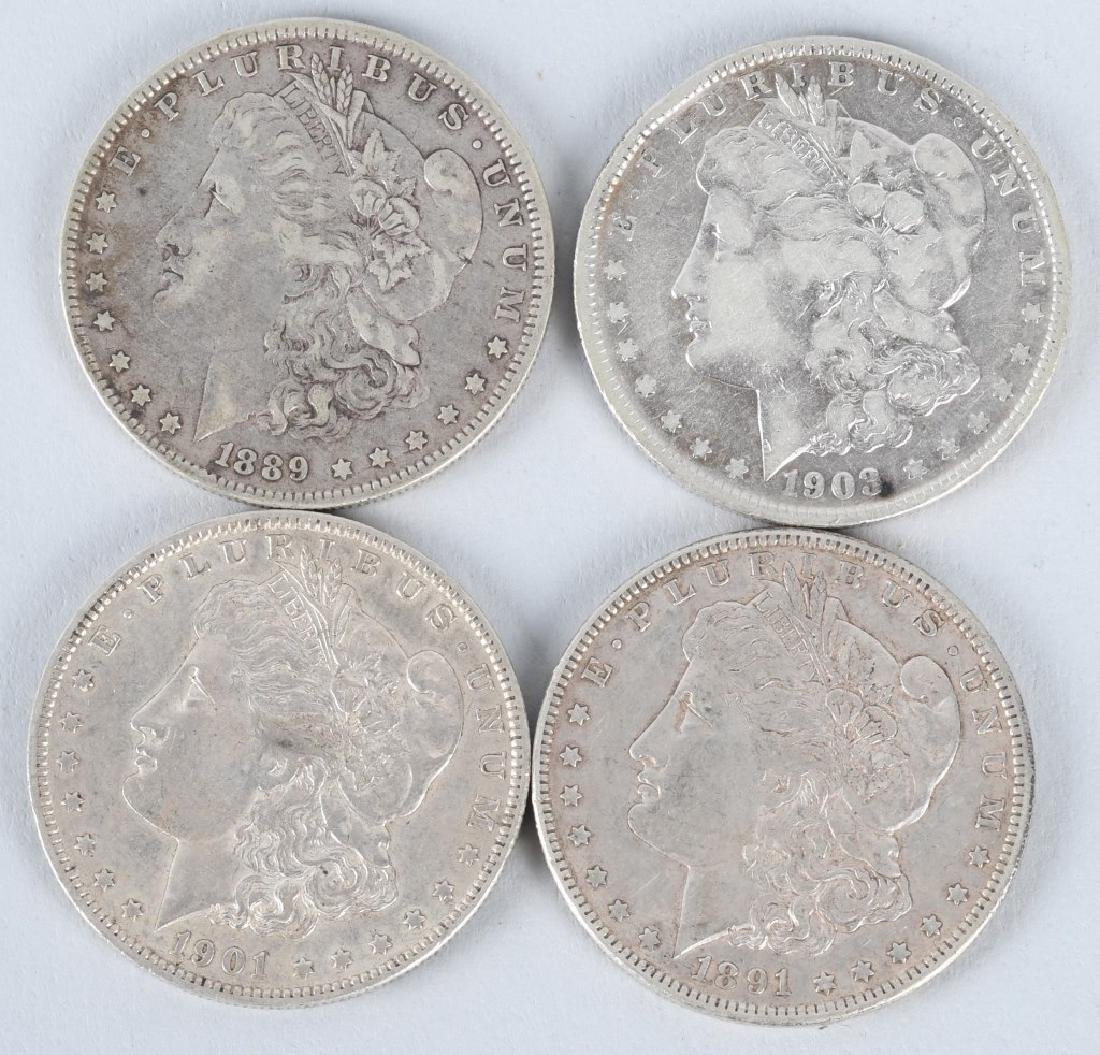 4- MORGAN SILVER DOLLARS