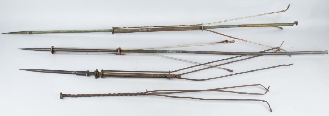 4-ANTIQUE LIGHTNING RODS