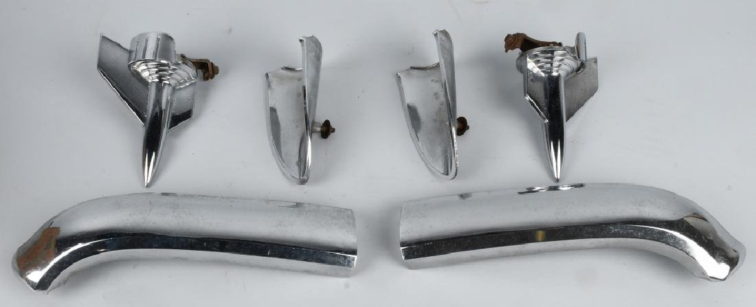 1957 CHEVROLET CHROME HOOD PARTS