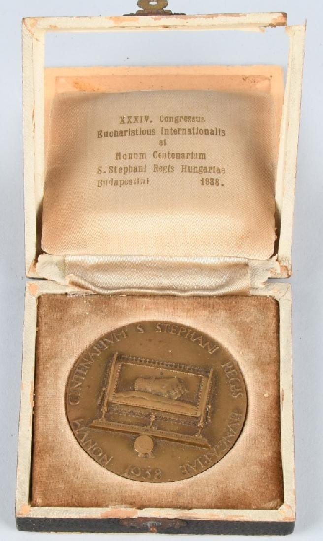 1938 HUNGARY BUDAPEST XXIV CONGRESS MEDAL