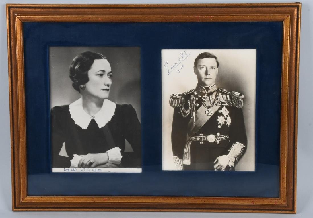 EDWARD VIII and WALLIS WINDSOR signed PHOTOS