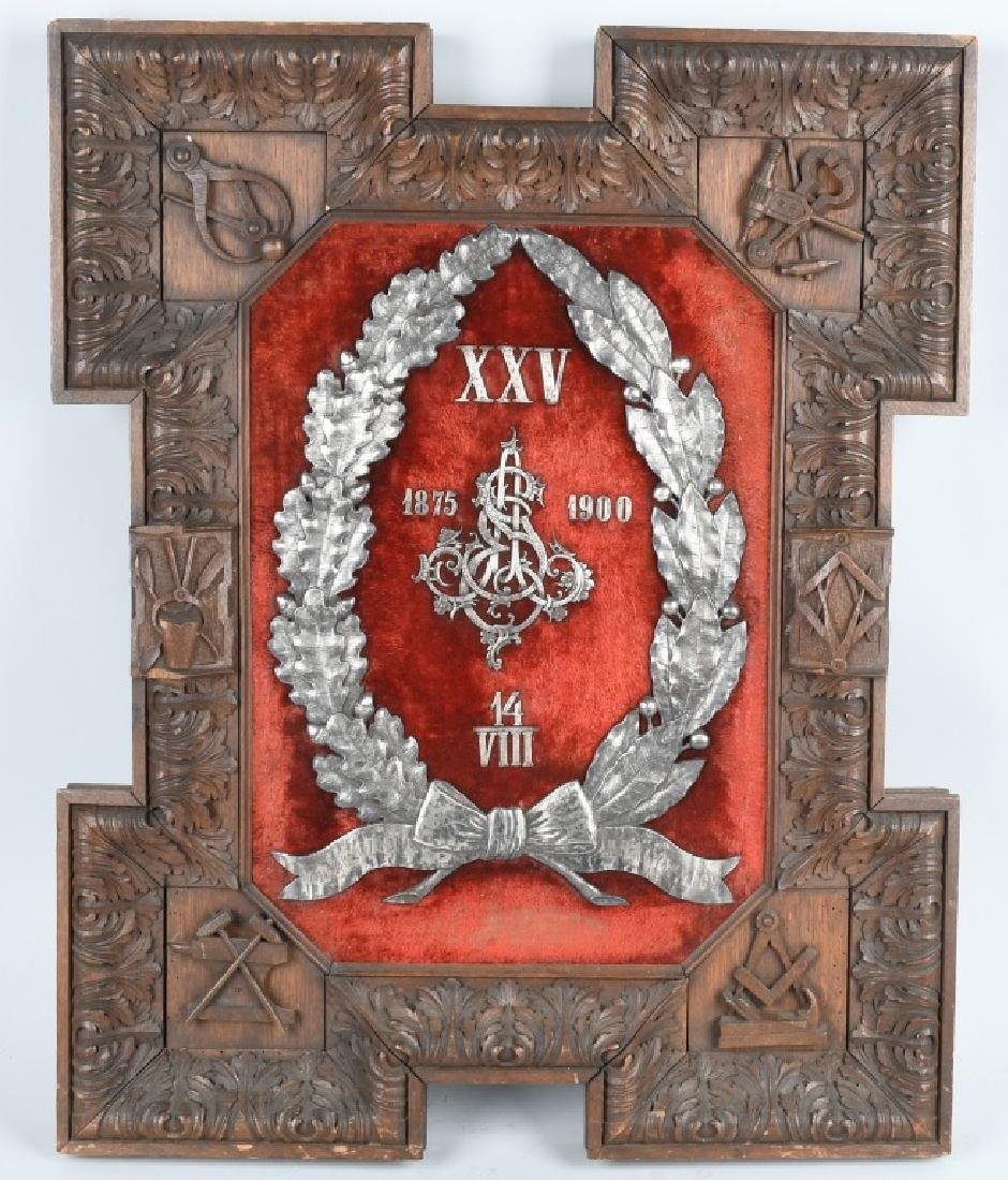 POLISH FREE MASONS AWARD 1875-1900