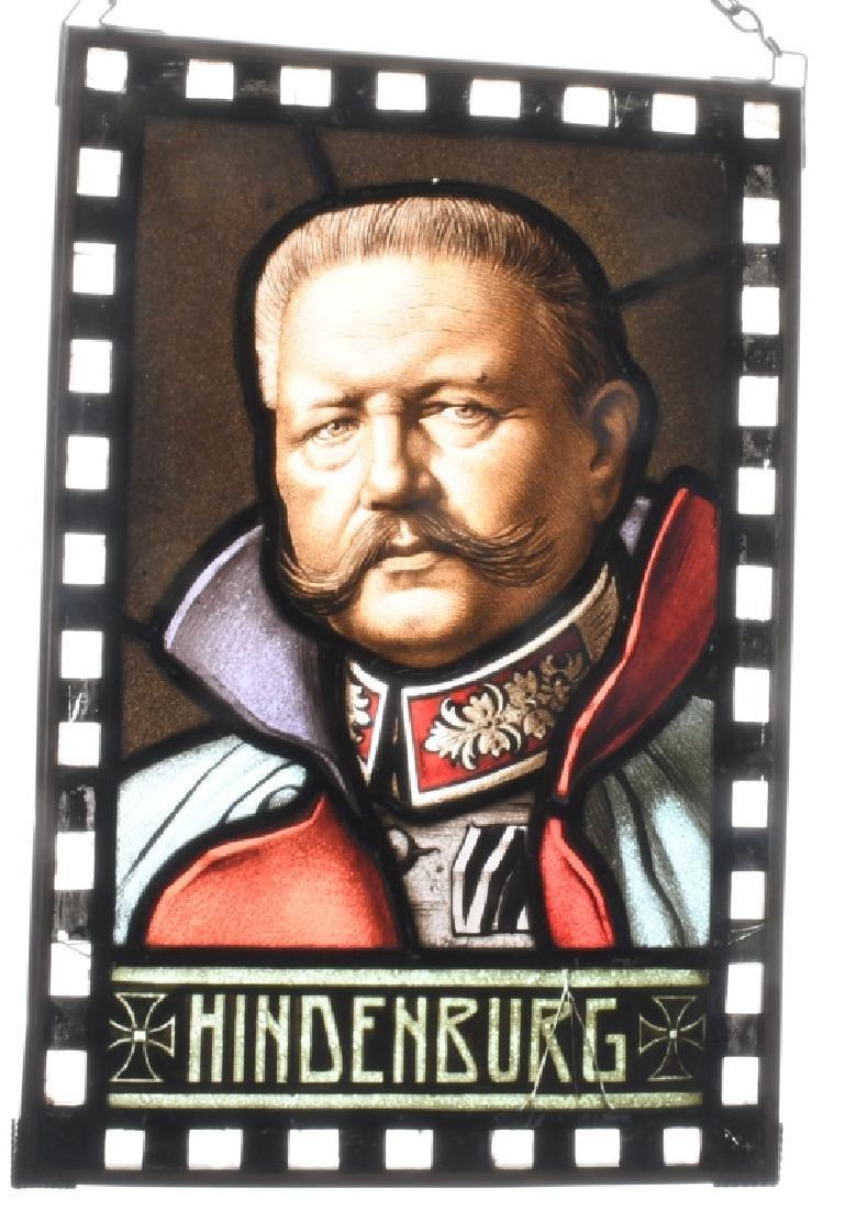PAUL von HINDENBURG STAINED GLASS WINDOW