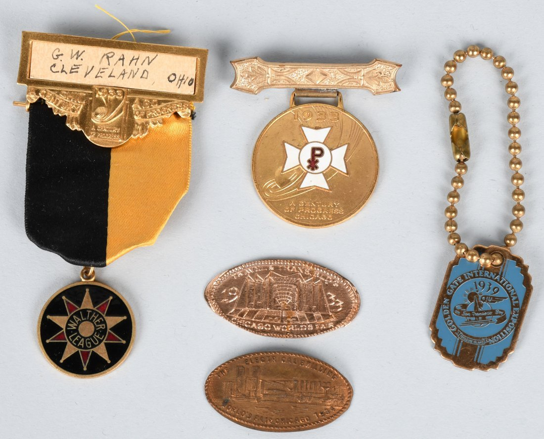 1933 WORLDS FAIR MEDALS & MORE