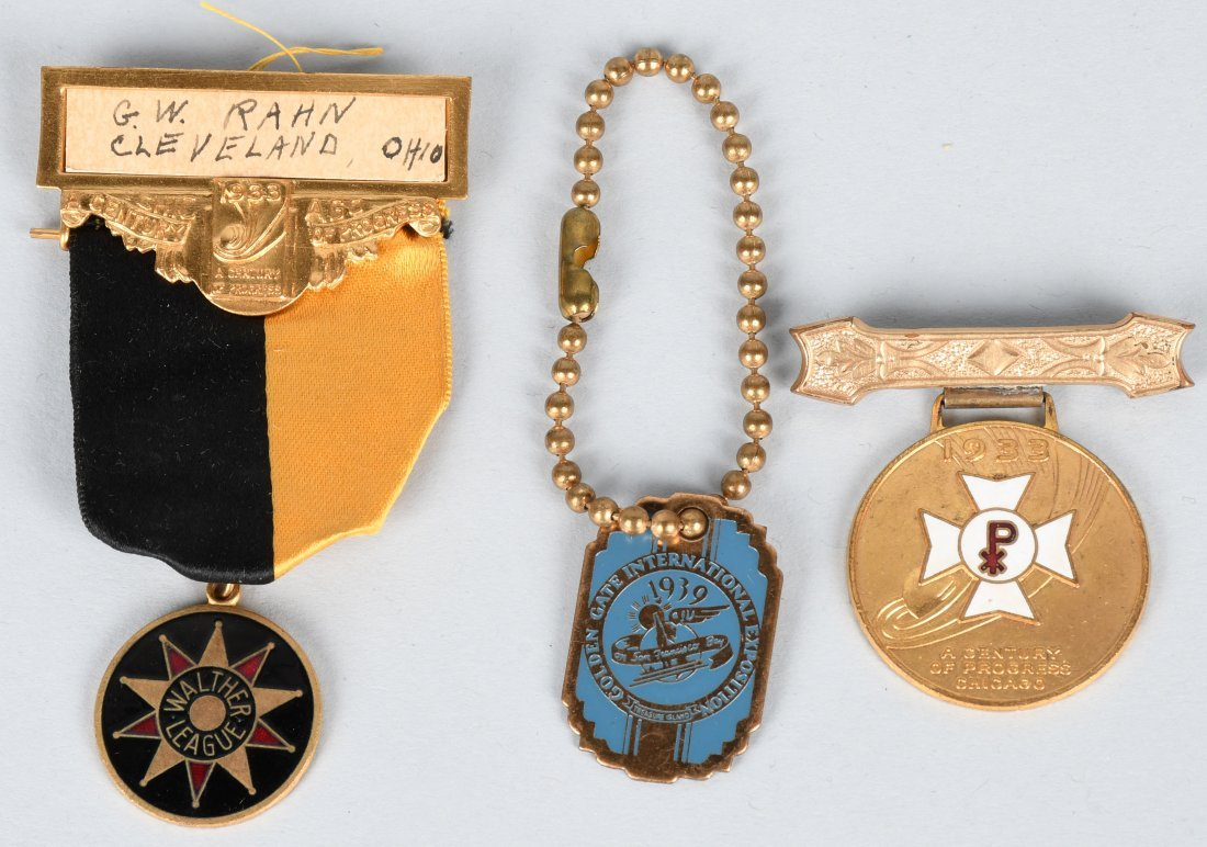 1933 WORLDS FAIR MEDALS & MORE - 3