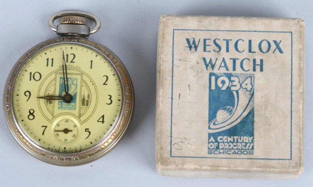 WESTCLOX 1934 WORLDS FAIR POCKET WATCH
