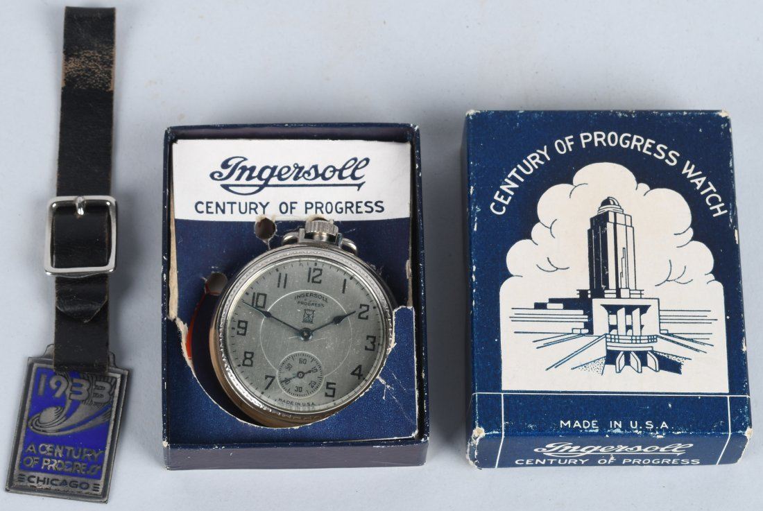 INGERSOLL 1933 WORLDS FAIR POCKET WATCH
