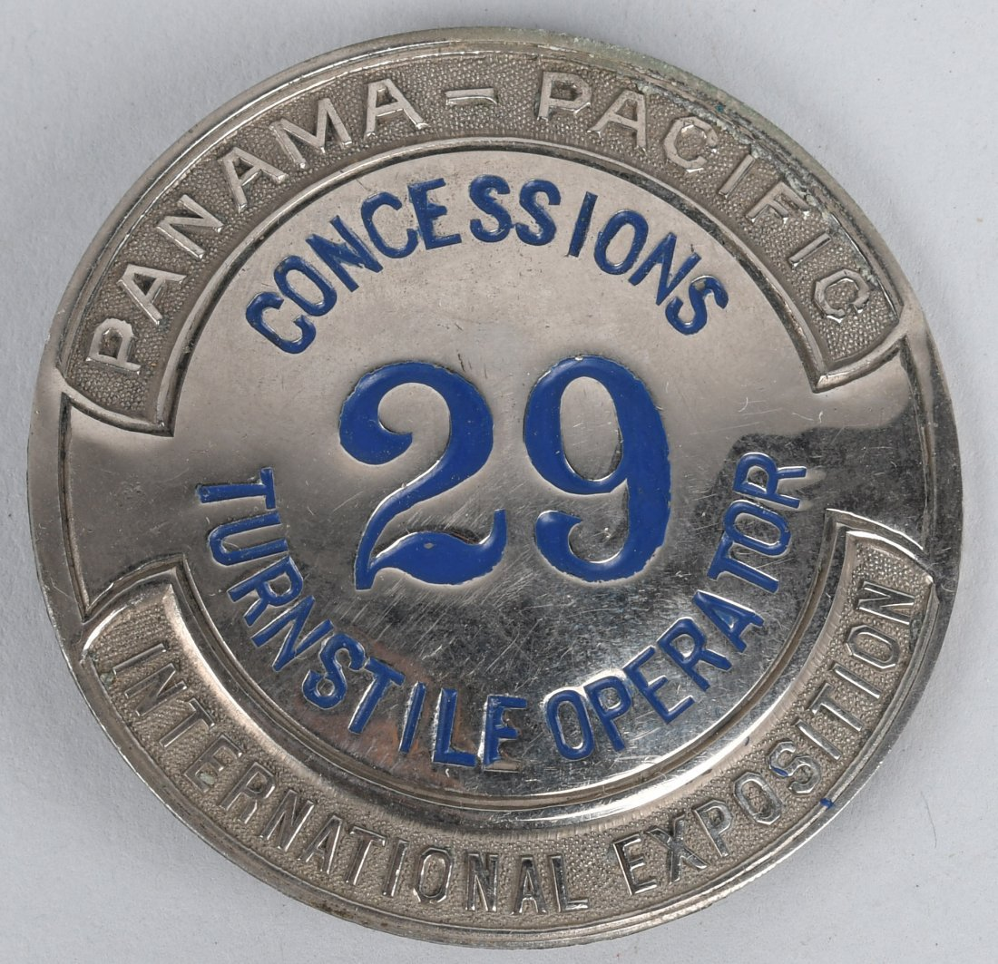 PANAMA PACIFIC CONCESSIONS BADGE