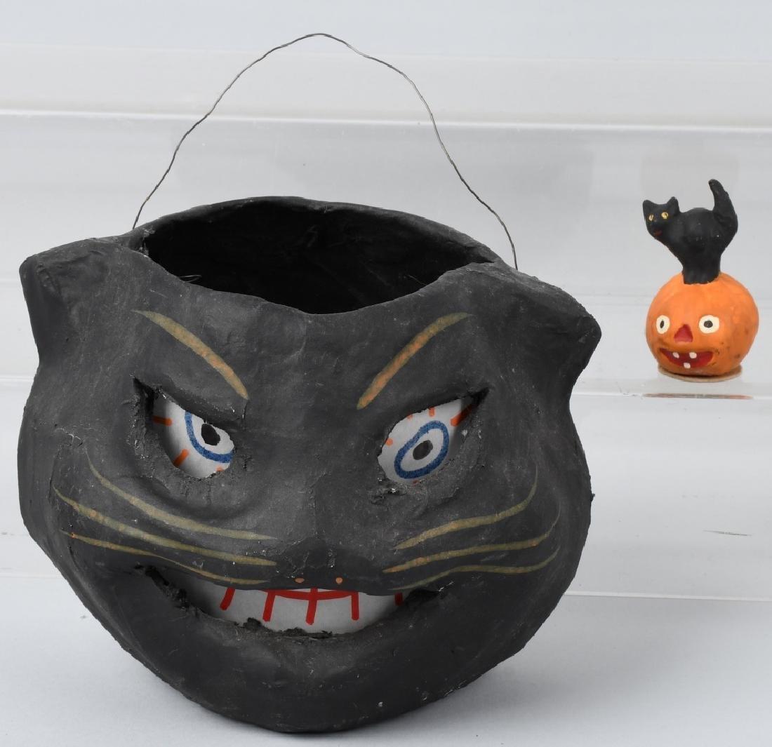 EARLY HALLOWEEN BLACK CAT LANTERN & MORE