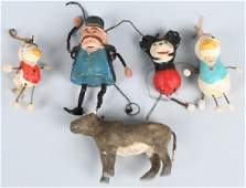5- VINTAGE CHRISTMAS ORNAMENTS w/ MICKEY MOUSE