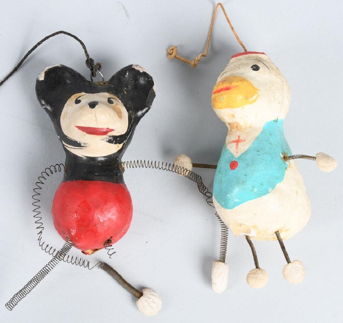 5- VINTAGE CHRISTMAS ORNAMENTS w/ MICKEY MOUSE - 2