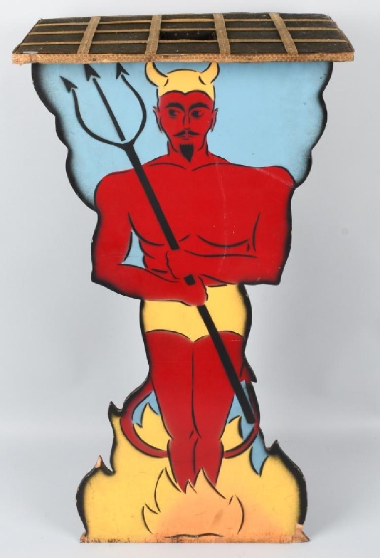 VINTAGE DEVIL MAGICIANS TABLE