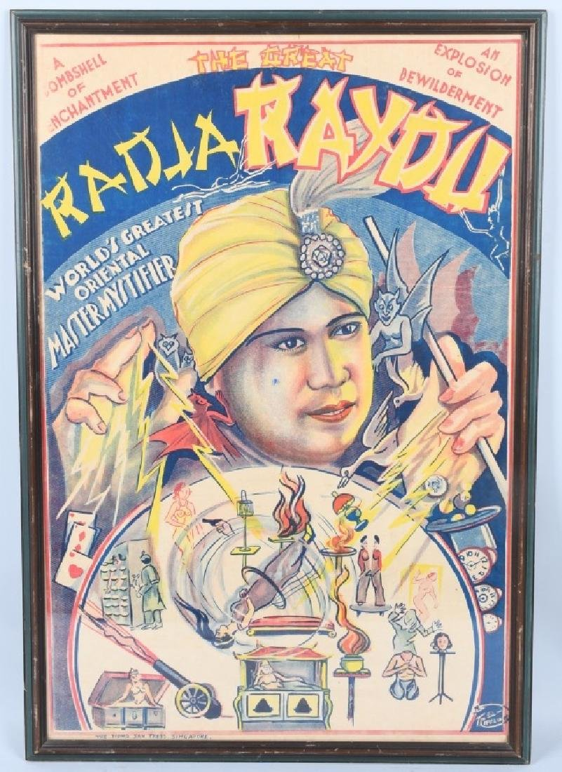VINTAGE RADJA RAYDU MAGIC POSTER